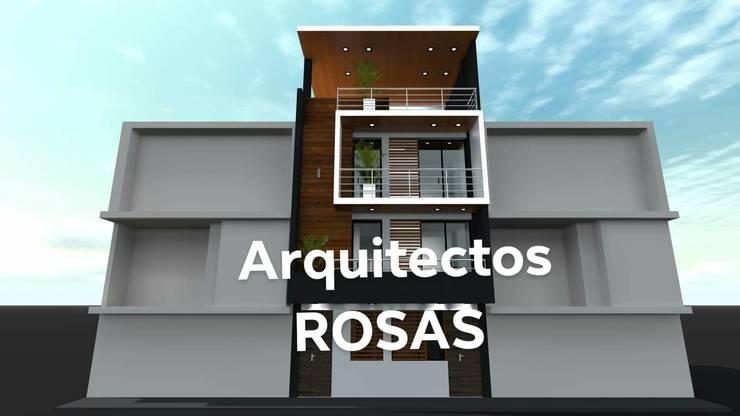 VIVIENDA MULTIFAMILIAR TRUJILLO PERU: Casas multifamiliares de estilo  por Crearq-Arquitecto C.ROSAS,