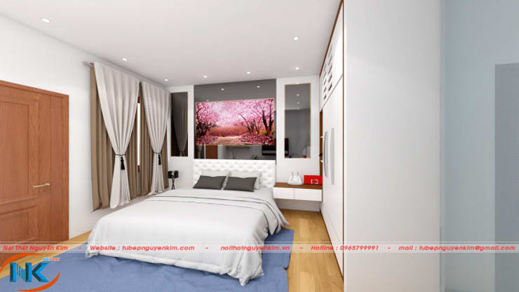 Thiết kế phòng ngủ nhà ống :   by Nội thất Nguyễn Kim