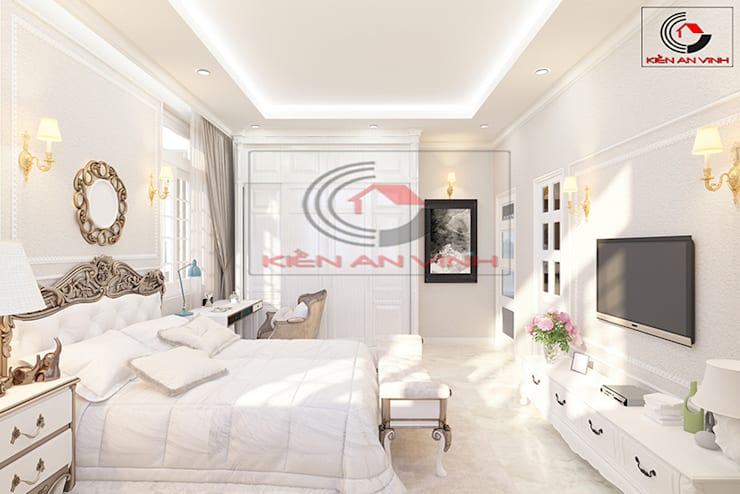 Phòng ngủ by Cong ty thiet ke nha biet thu dep Kien An Vinh
