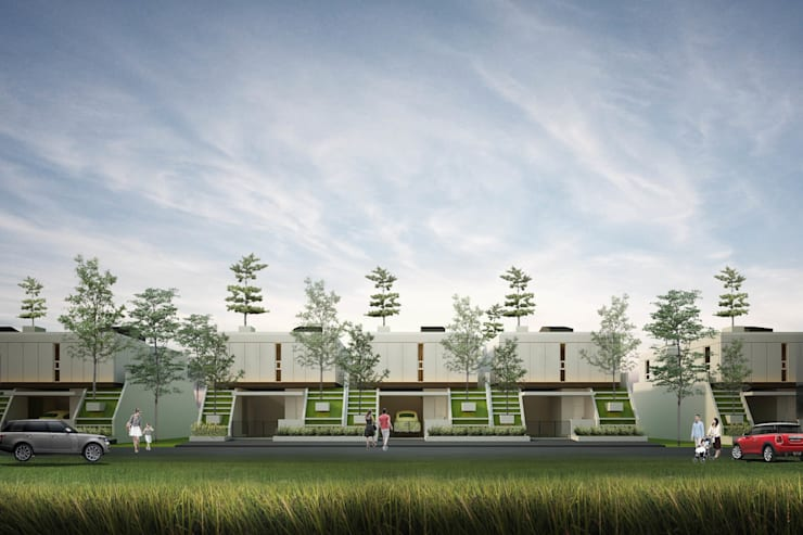 Houses by midun and partners architect, Modern