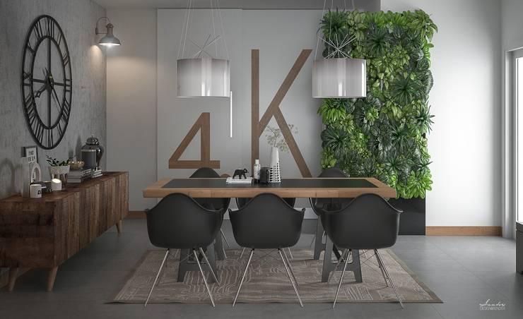 Industriale Esszimmer von Santoro Design Render Industrial