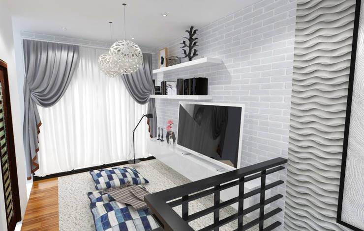 Ruang Keluarga: Ruang Keluarga oleh SARAÈ Interior Design,