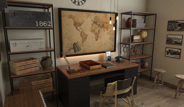 Study/office by SARAÈ Interior Design, Classic Plywood