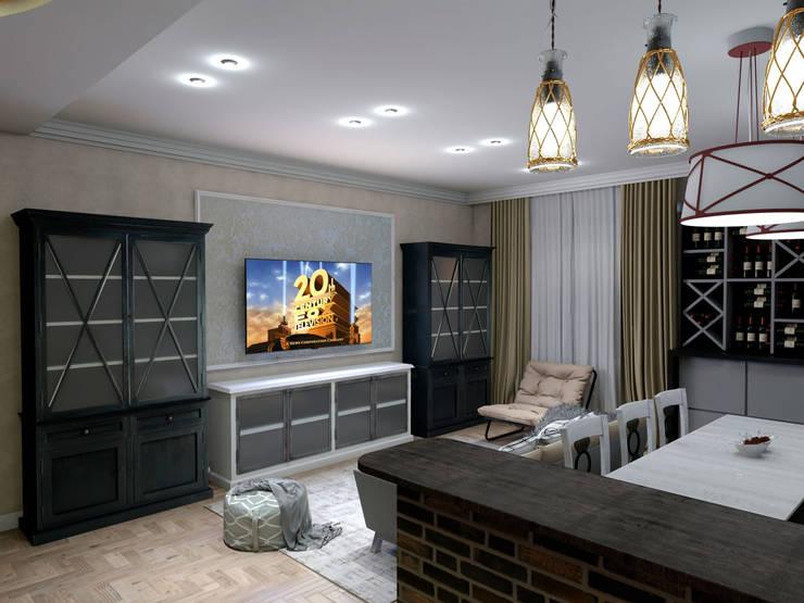 Wohnzimmer von Студия Ольги Таракановой