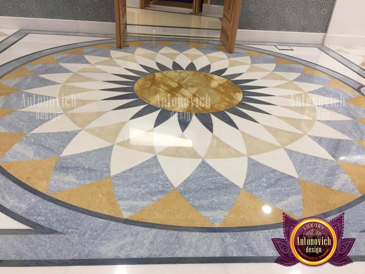 Very Creative Marble Flooring:   by Luxury Antonovich Design