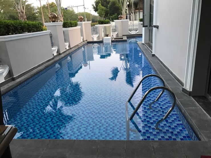 Thi công bể bơi chuyên nghiệp:  Garden Pool by seapoolvn, Classic Reinforced concrete