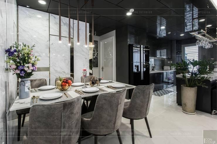 Không gian hiện đại trong căn hộ cao cấp Vinhomes Central Park:  Phòng ăn by ICON INTERIOR
