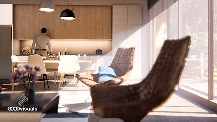 Portafolio: Livings de estilo  por GOOD visuals