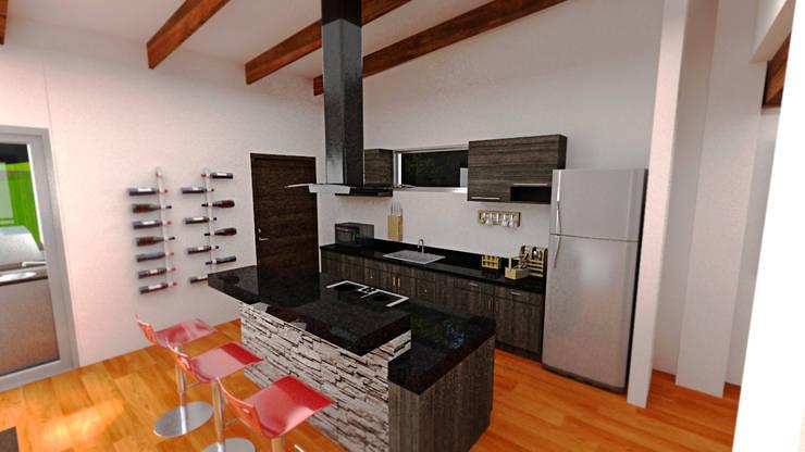 Casa Ocampo: Cocinas de estilo  por Dima Arquitectos s.a.s