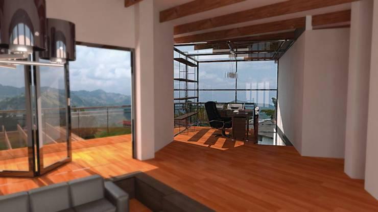Casa Ocampo: Estudios y despachos de estilo  por Dima Arquitectos s.a.s