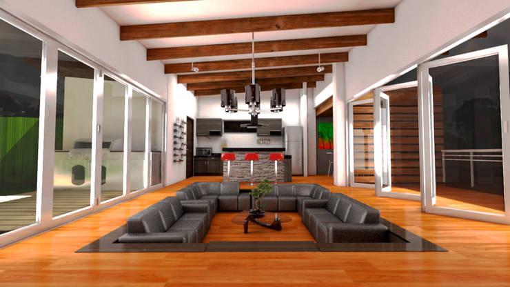 Casa Ocampo: Salas de estilo  por Dima Arquitectos s.a.s