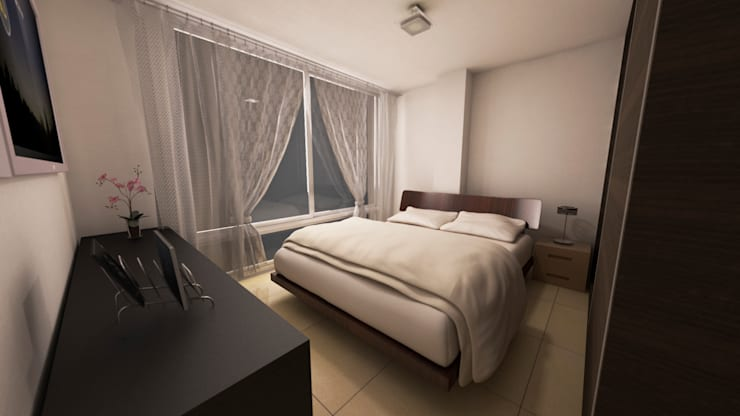 Modern style bedroom by Dima Arquitectos s.a.s Modern