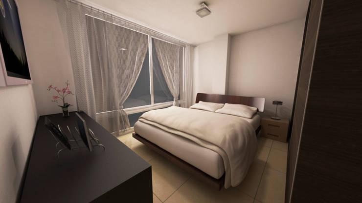 Dormitorios de estilo moderno de Dima Arquitectos s.a.s Moderno
