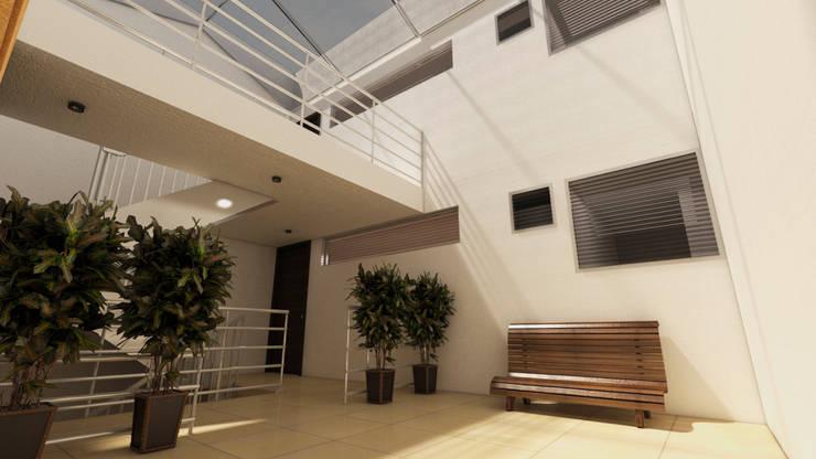 Pasillos, vestíbulos y escaleras modernos de Dima Arquitectos s.a.s Moderno