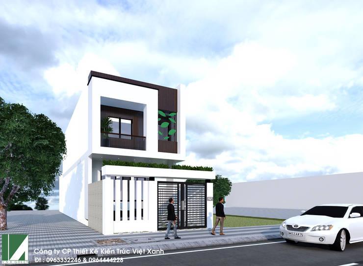 nhà phố 2 tầng hiện đại 6m:   by công ty cổ phần Thiết kế Kiến trúc Việt Xanh