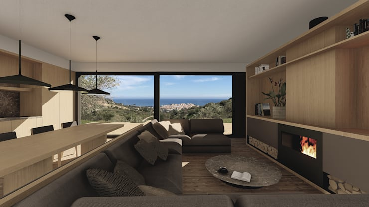 Living room by ALESSIO LO BELLO ARCHITETTO a Palermo, Country Wood Wood effect
