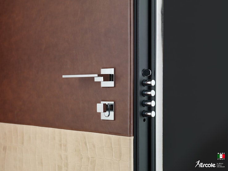Front doors by Ercole Srl, Modern Stone