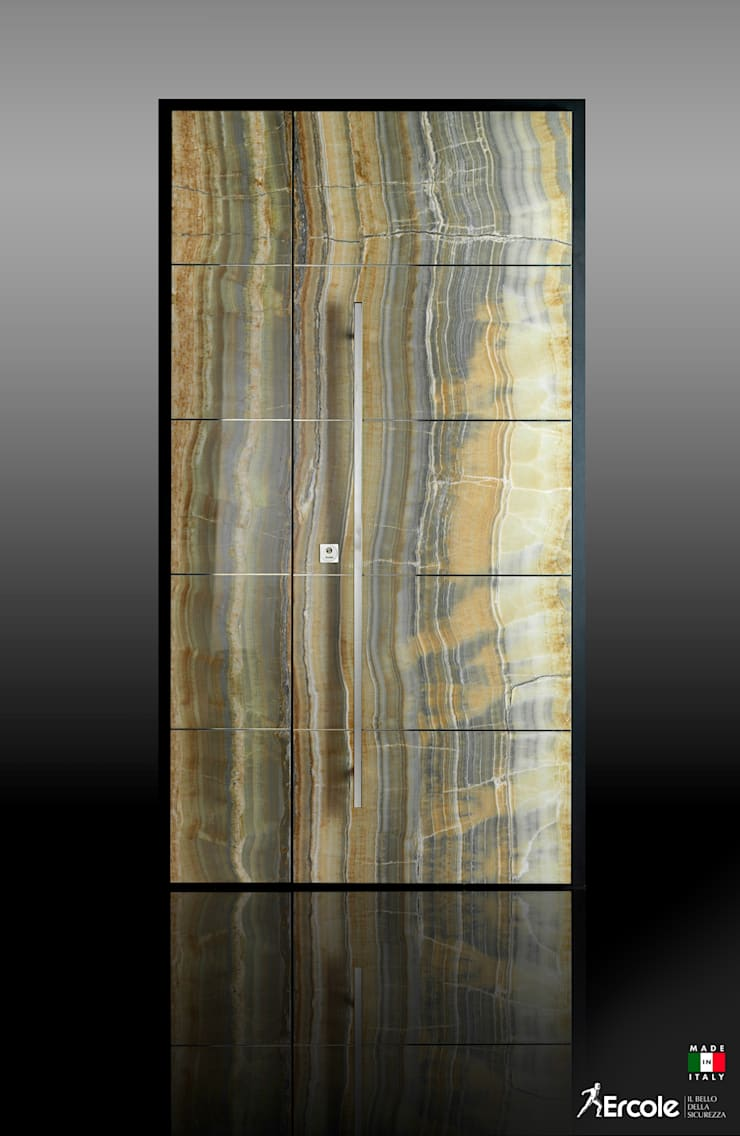 Front doors by Ercole Srl, Modern Quartz
