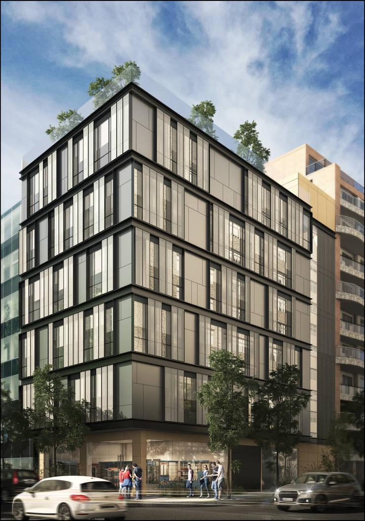 Срубы в . Автор – Mega Ciudades Arquitectura & Urbanismo, Модерн