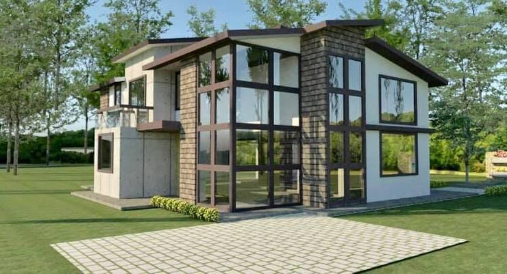 diseños de fachadas:  de estilo  por Arqmania