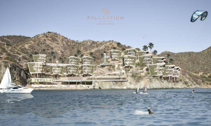 PALLANTIUM  LUXU  EXCLUSIVE: Hoteles de estilo  por DOMOS ARQUITECTURA S.A.S