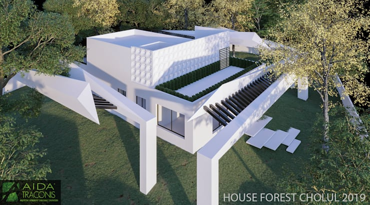 Passive house by AIDA TRACONIS ARQUITECTOS EN MERIDA YUCATAN MEXICO, Modern