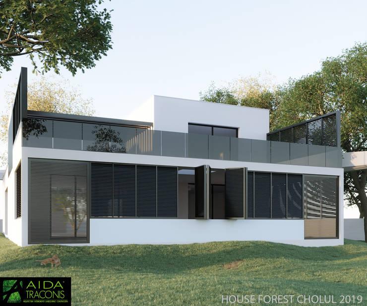 Houses by AIDA TRACONIS ARQUITECTOS EN MERIDA YUCATAN MEXICO, Modern