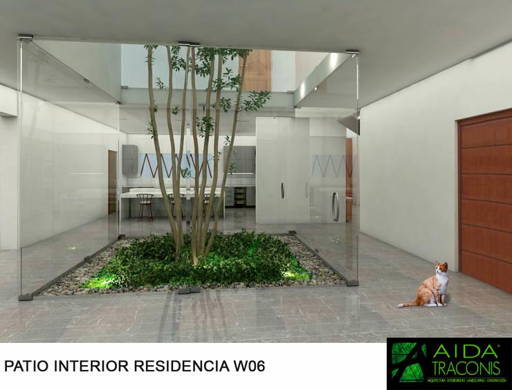 Estanques de jardín de estilo  de AIDA TRACONIS ARQUITECTOS EN MERIDA YUCATAN MEXICO, Moderno