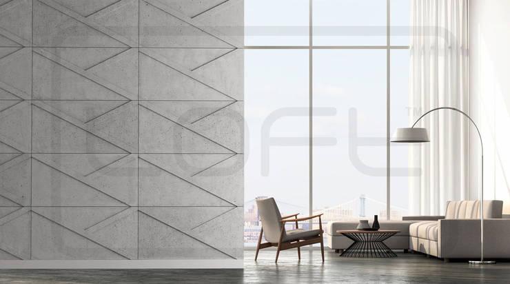 Гостиная в . Автор – Loft Design System Deutschland - Wandpaneele aus Bayern, Лофт Бетон