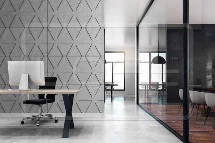 Рабочие кабинеты в . Автор – Loft Design System Deutschland - Wandpaneele aus Bayern, Лофт Бетон