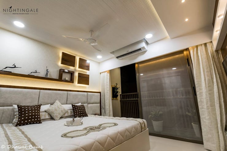 Guest bedroom :  Bedroom by Nightingale Creative Design Studio, Modern Ceramic