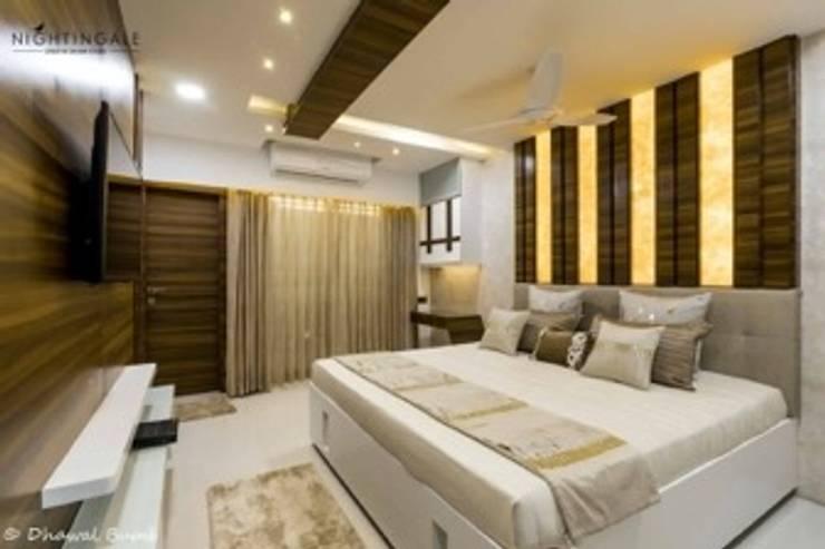 Master Bedroom :  Small bedroom by Nightingale Creative Design Studio, Modern Bamboo Green