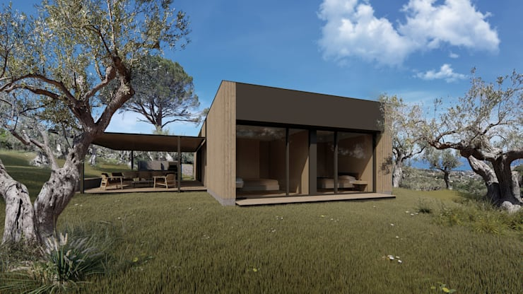 Wooden houses by ALESSIO LO BELLO ARCHITETTO a Palermo, Country Wood Wood effect