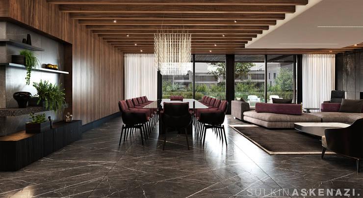 Dining room by Sulkin Askenazi, Modern