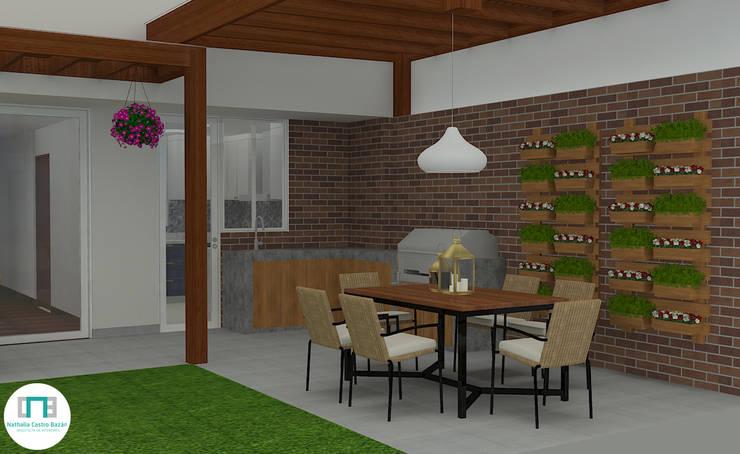 Diseño de Terraza Balcones y terrazas modernos de Nathalia Castro Bazan - Arquitecta de interiores Moderno