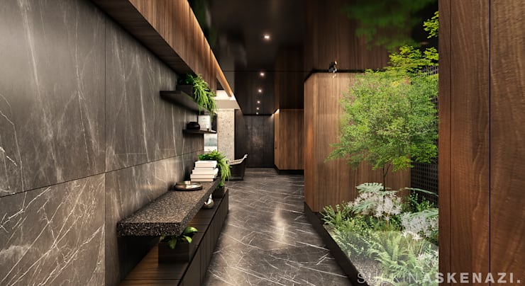 Corridor & hallway by Sulkin Askenazi, Modern