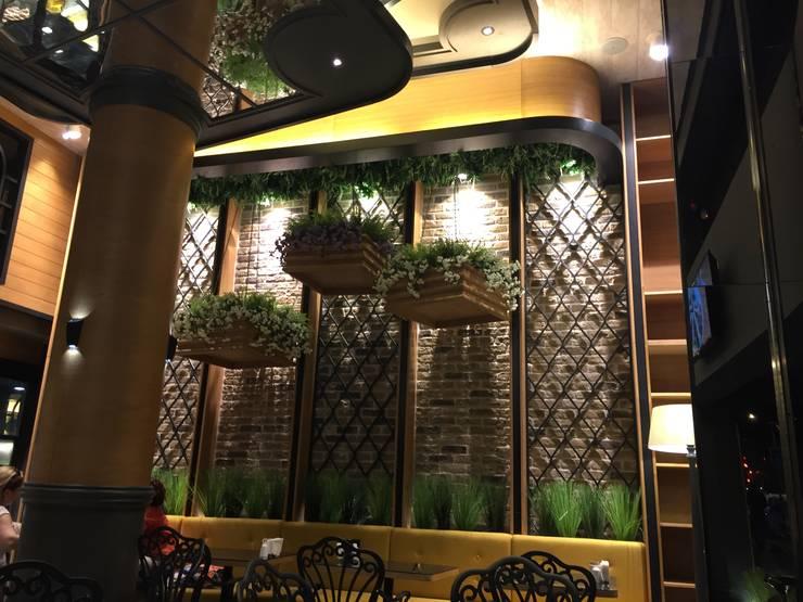 Paredes de estilo  por erenyan mimarlık proje&tasarım, Industrial Compuestos de madera y plástico
