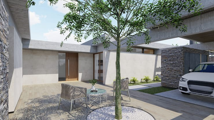Passive house by ARBOL Arquitectos , Rustic
