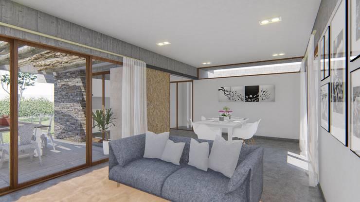Living room by ARBOL Arquitectos , Rustic