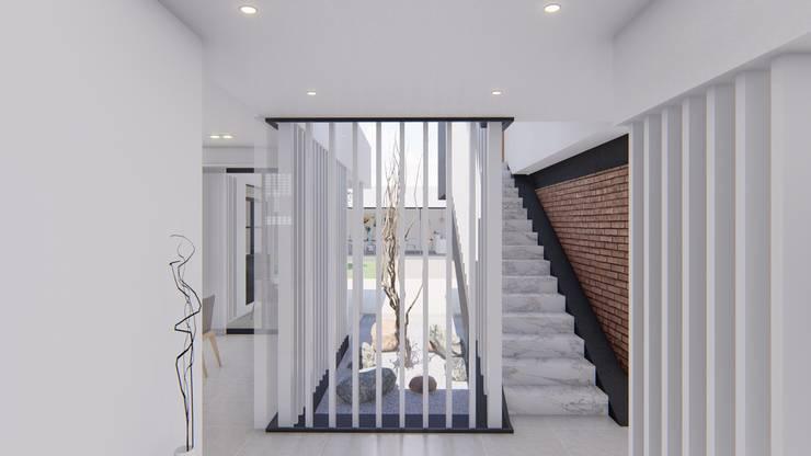 走廊 & 玄關 by ARBOL Arquitectos , 簡約風