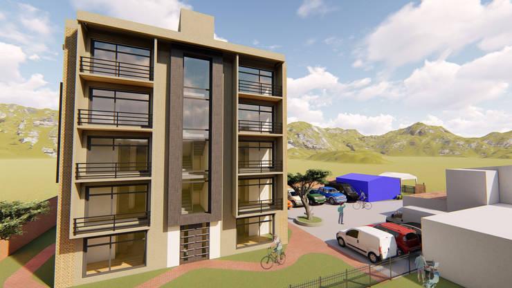 VIVIENDA MULTIFAMILIAR CHIA CUNDINAMARCA: Habitaciones de estilo  por DS ARQUITECTURA Y CONSTRUCCION