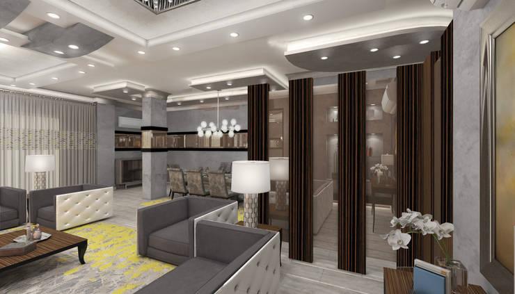 كيف تم عمل تصميم للتغلب على مشكله العمود و توظيف المساحه بشكل مناسب :   تنفيذ Authentic for interior designs