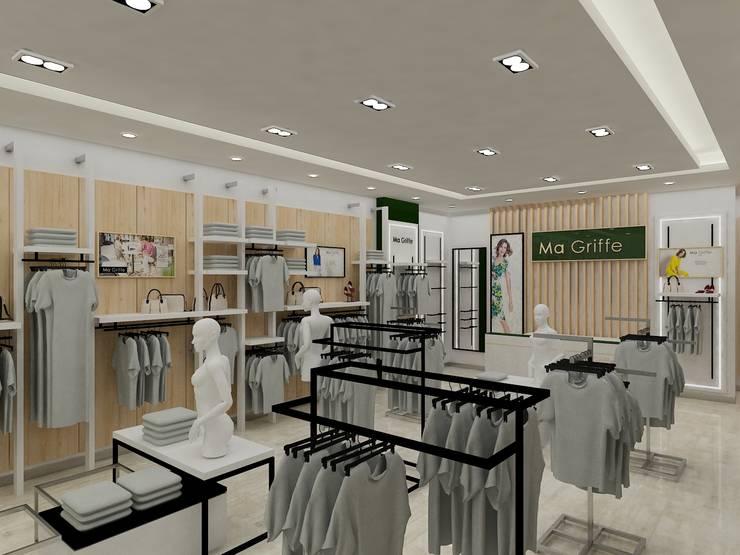 INTERIORISMO MAGRIFFE: Espacios comerciales de estilo  por AUTANA arquitectos