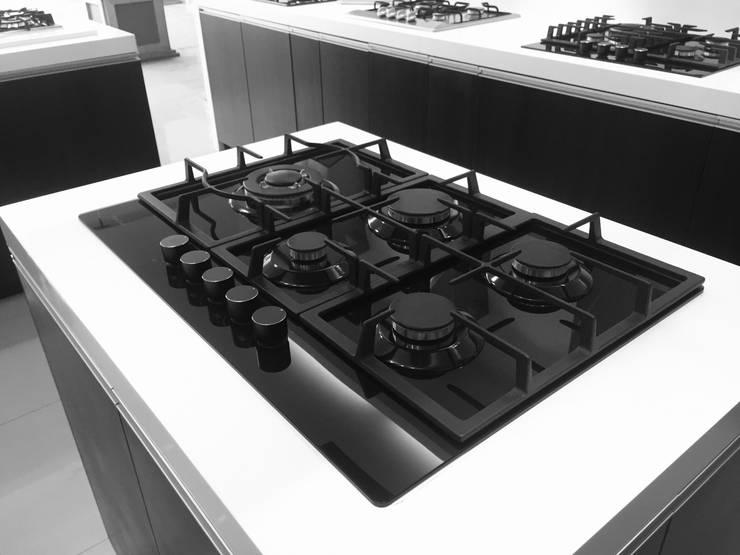 Cocina Empotrable a gas modelo Kaus de Highcook Moderno Vidrio