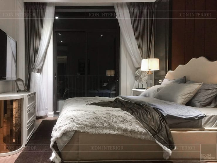 Không gian biệt thự đẹp: Phong cách Tân cổ điển nhẹ nhàng tinh tế:  Phòng ngủ by ICON INTERIOR