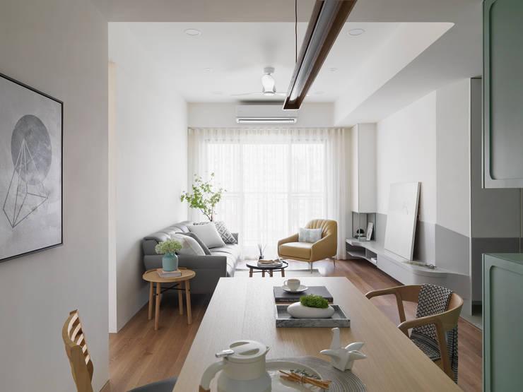 Столовые комнаты в . Автор – 寓子設計, Скандинавский