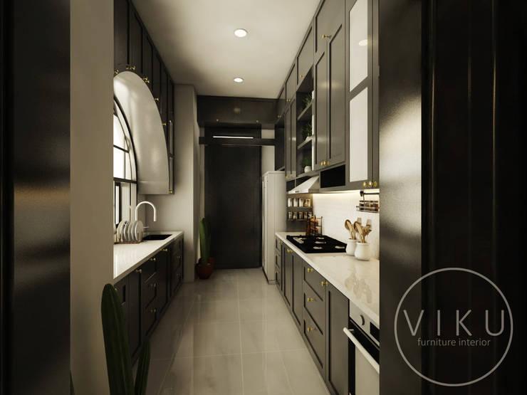 kitchen set  bu yanda: Dapur built in oleh viku,