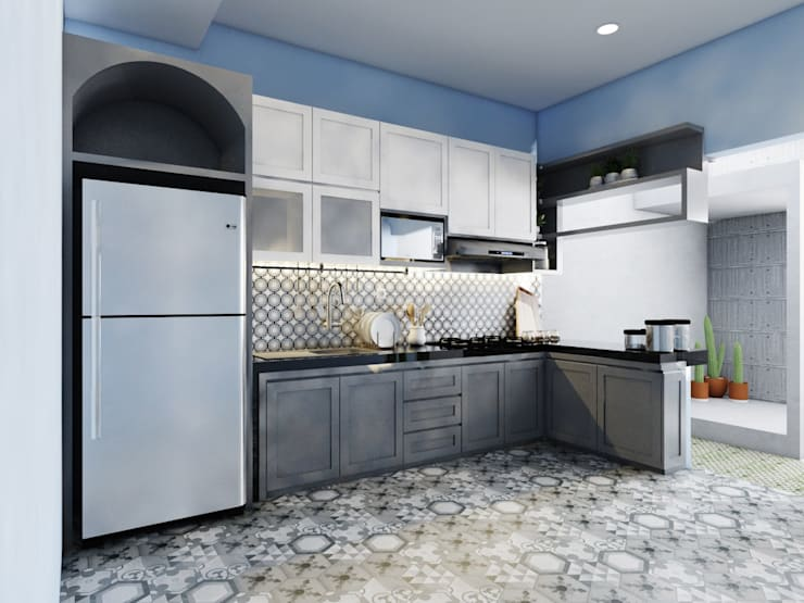 kitchen set  bu yanda: Unit dapur oleh viku,