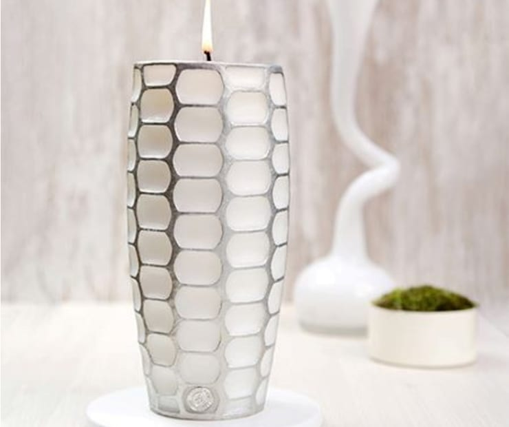 White & Silver Candle BE2ADORN: scandinavian  by BE2ADORN-DECORATIVE CHARM CANDLES, Scandinavian