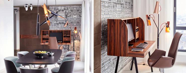 Living room by DelightFULL, Modern Copper/Bronze/Brass